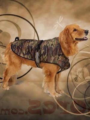 Green Camo Dog Jacket
