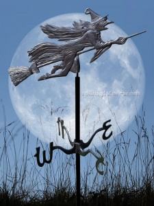 Whitehall Flying Witch Garden Weathervane