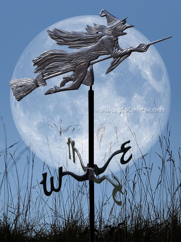 The Whitehall Flying Witch Garden Weathervane Can Decorate ...
