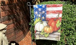 Patriotic Pumpkin Garden Flag
